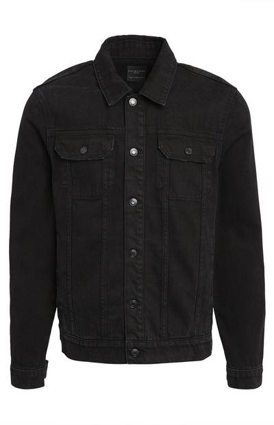 Black Denim Trucker Jacket