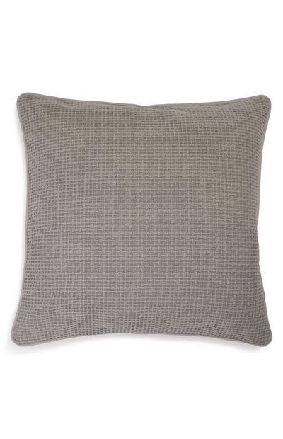 Grey Soft Waffle Cushion Cover