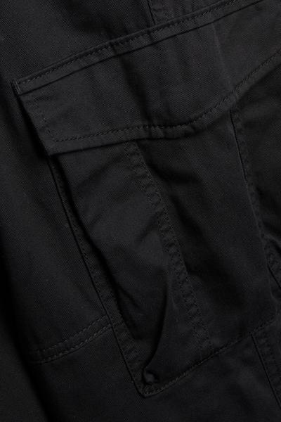 Black Full Tech Cargo Trousers