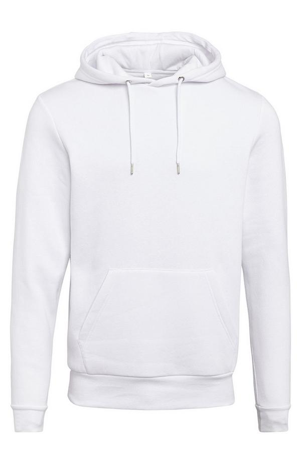 White Basic Pull Over Hoodie