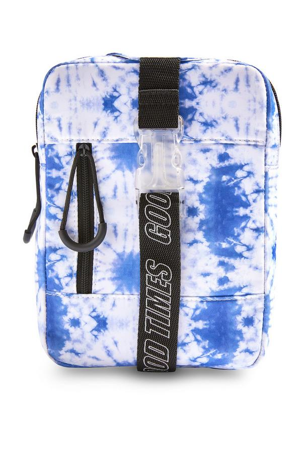 Blue Tie Dye Chest Bag