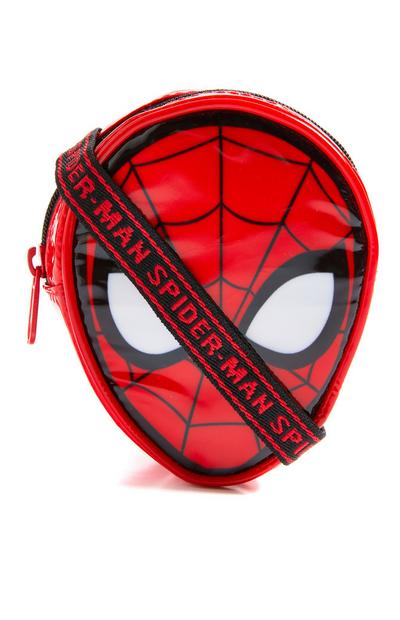 Portefeuille rouge zippé Spiderman