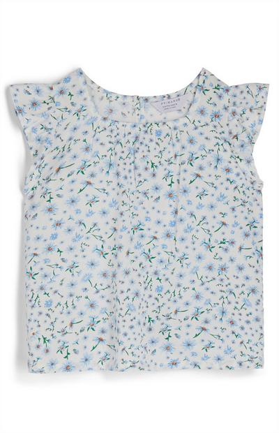Younger Girl Floral Print Blouse