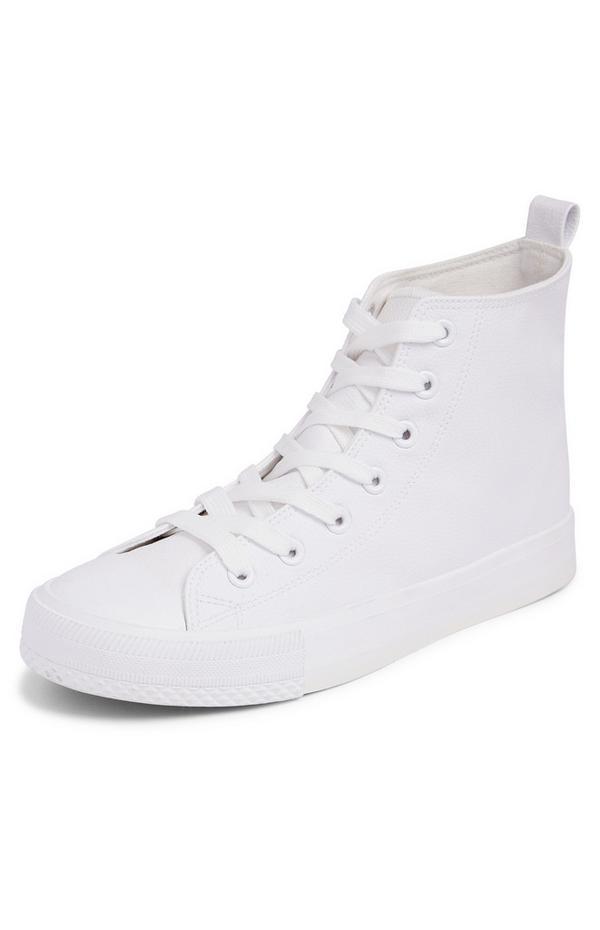 Klassische High-Top-Sneaker in Weiß