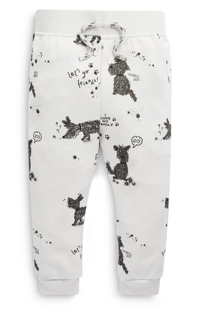 Baby Boy Dog Pattern Joggers