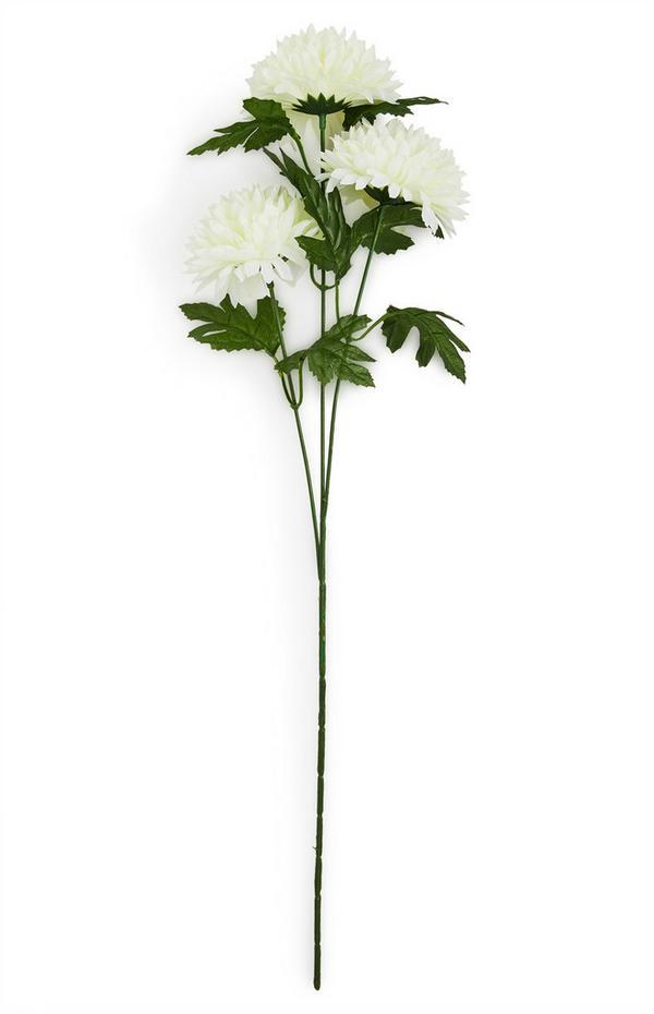 Faux Single Stem White Dahlia Flowers