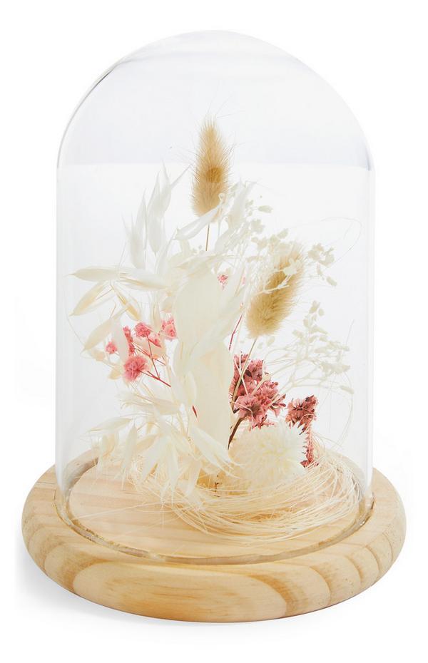 Terrarium met gedroogde bloemen