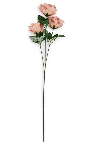 Faux Single Stem Blush Pink Rose Flowers