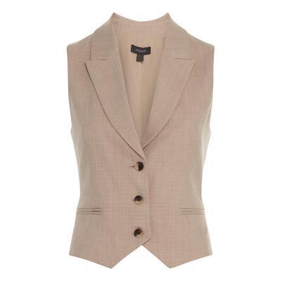 Beige Crosshatch Waistcoat