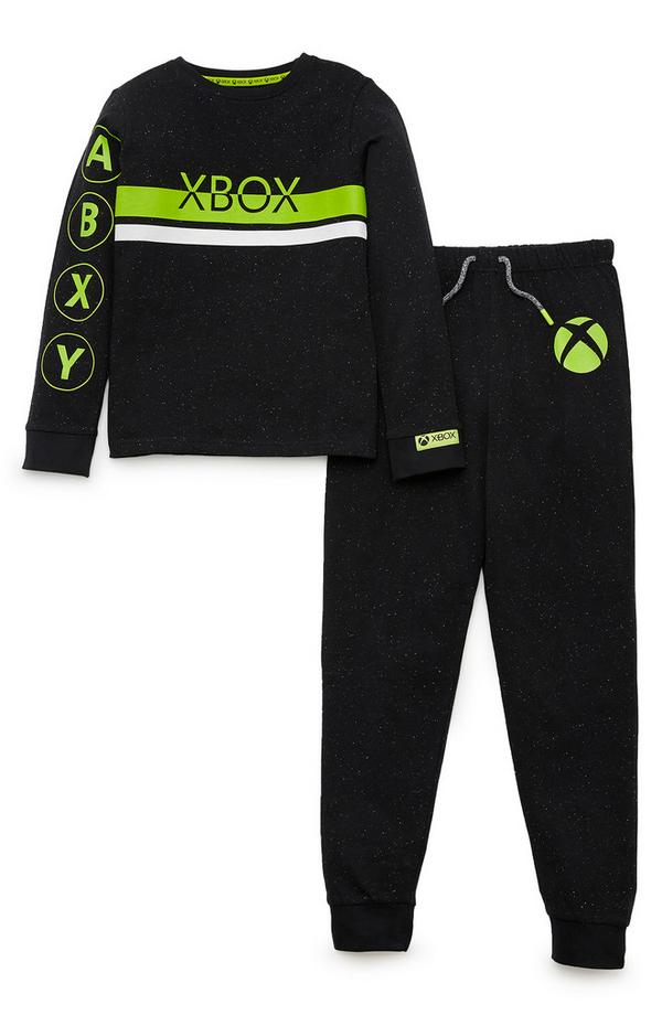 Older Boy Black Xbox Pyjamas