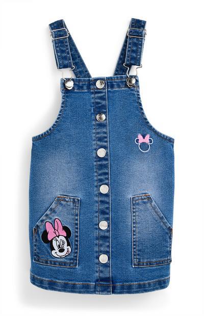 Blauwe overgooier Minnie Mouse van spijkerstof voor meisjes
