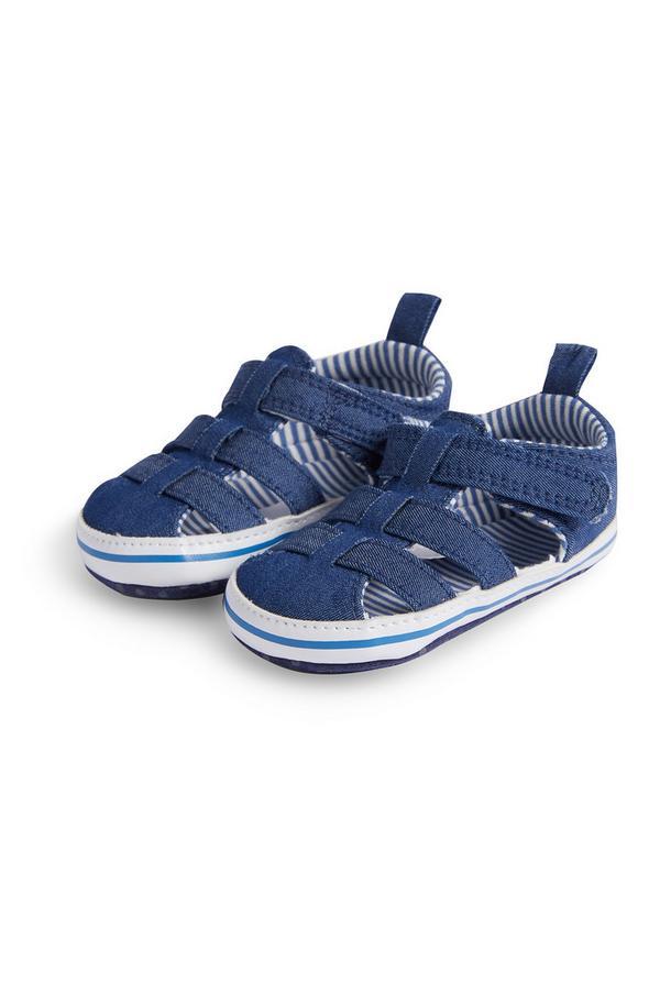 Fantovski sandali iz džinsa v ribiškem videzu za dojenčke