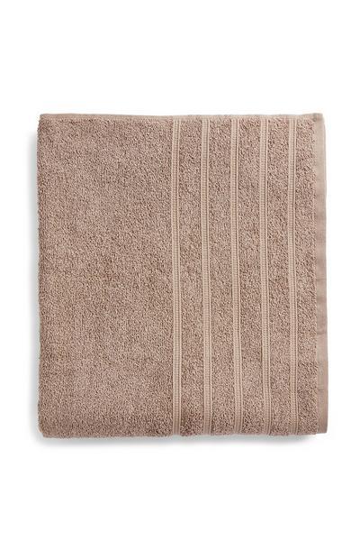 Lençol banho valor XL cinzento-acastanhado
