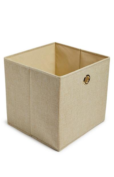 Natural Solid Woven Cube Storage Box