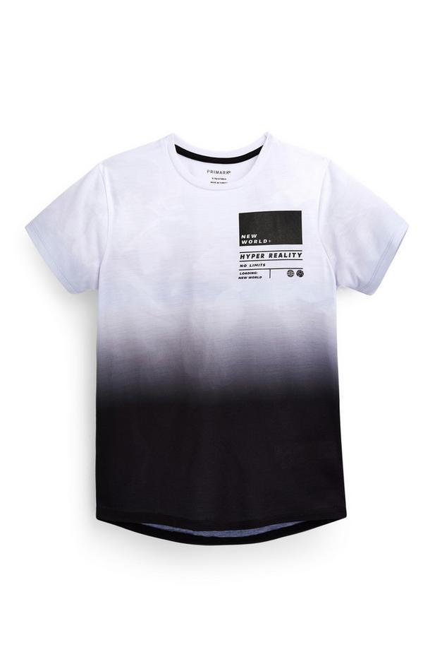 Zwart-wit T-shirt met verloop voor jongens