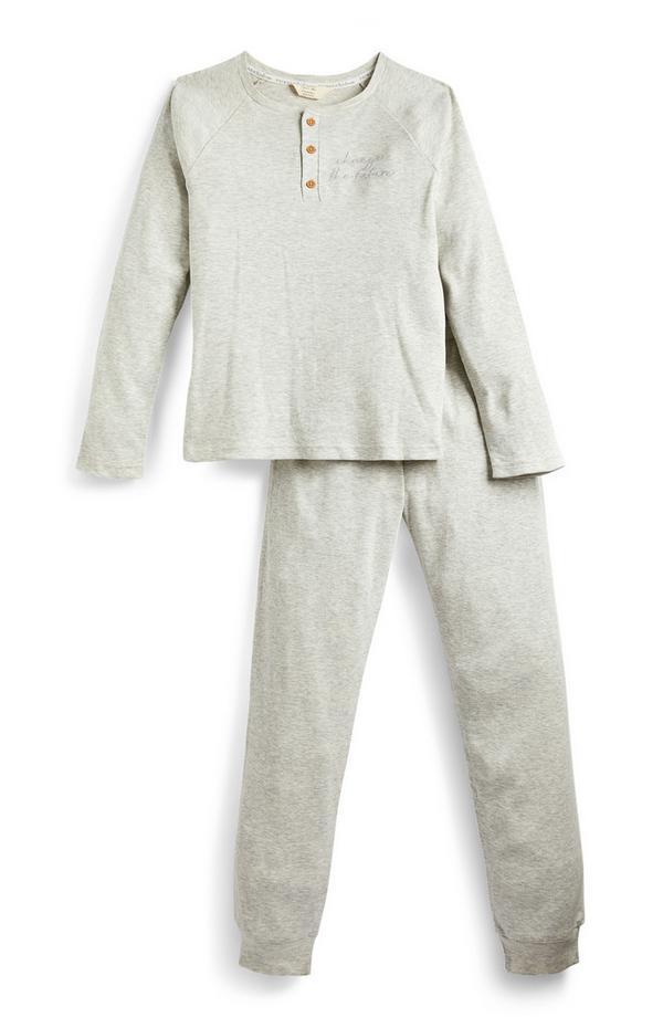 Stone Wellness Henley Ribbed Pyjamas