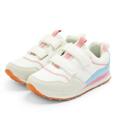 Weiße Retro-Sneaker (kleine Mädchen)