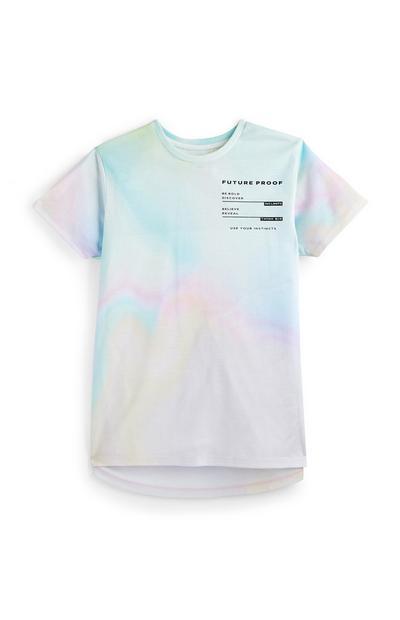 Meerkleurig tie-dye T-shirt voor oudere jongens