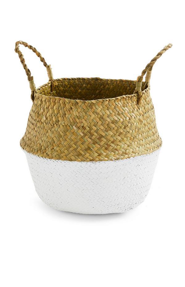 Straw Woven Water Hyacinth Basket 2 Pack