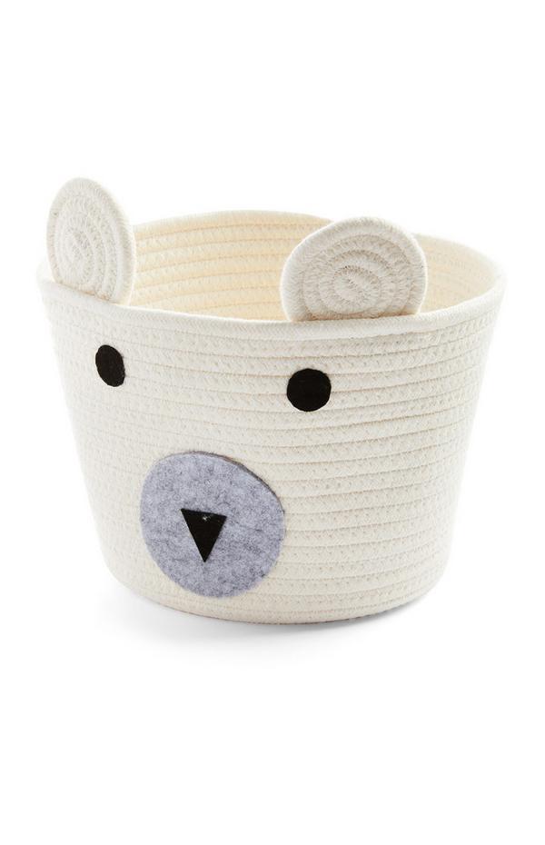 Kids White Medium Novelty Basket