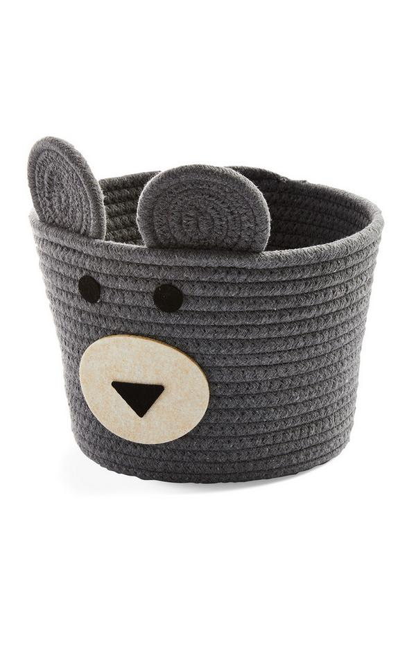 Kids Grey Medium Novelty Basket