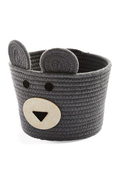 Kids Grey Medium Novelty Basket