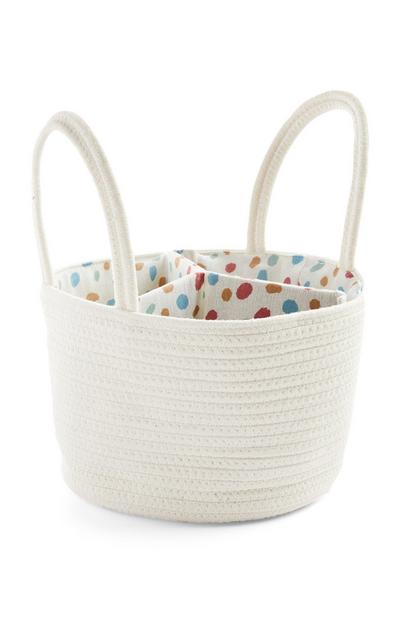 Kids Small White Caddy Basket