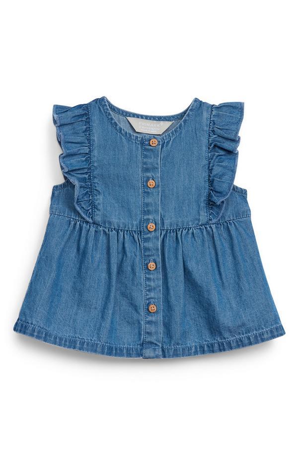 Jeansbluse für Babys (M)