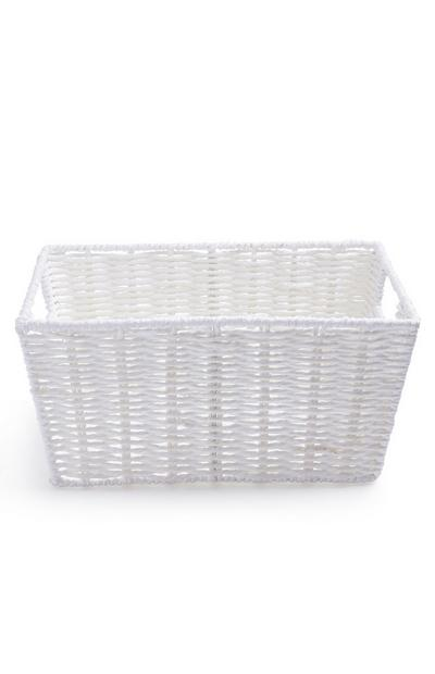 Medium White Paper Rope Basket