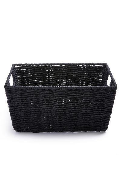 Black Medium Paper Rope Basket