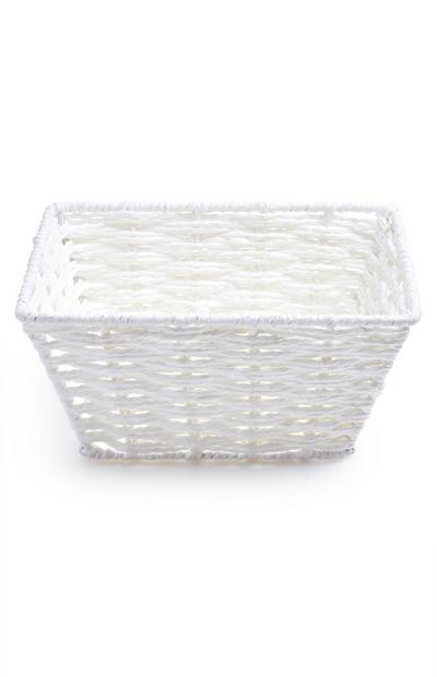 Petit panier blanc en corde de papier