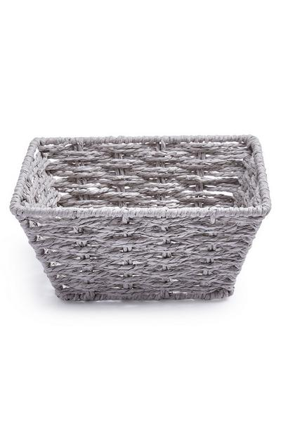 Grey Mini Paper Rope Basket