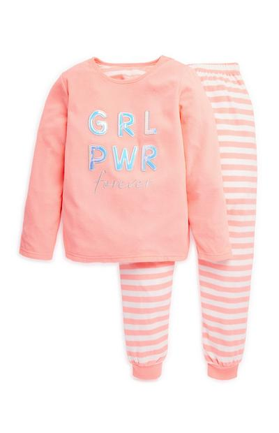 Younger Girl Girl Power Pyjama Set