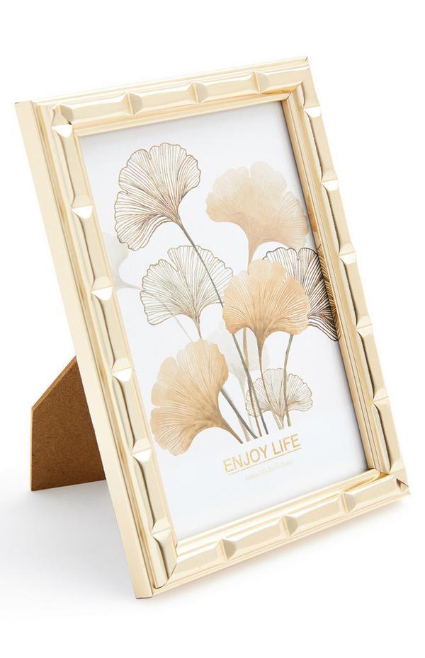 Goudkleurige bamboe fotolijst, 10x15 cm