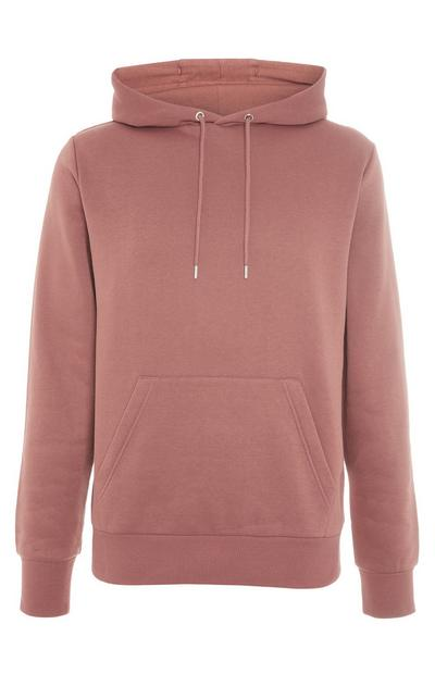 Pink Basic Pull Over Hoodie