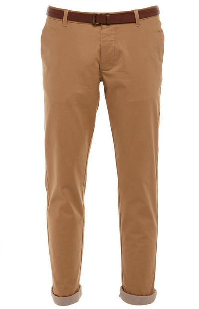 Camel Belted Chino