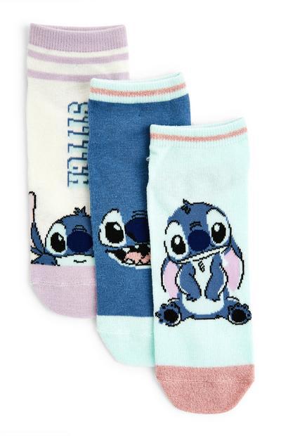 Pack de 3 pares de calcetines de Lilo y Stitch para niña