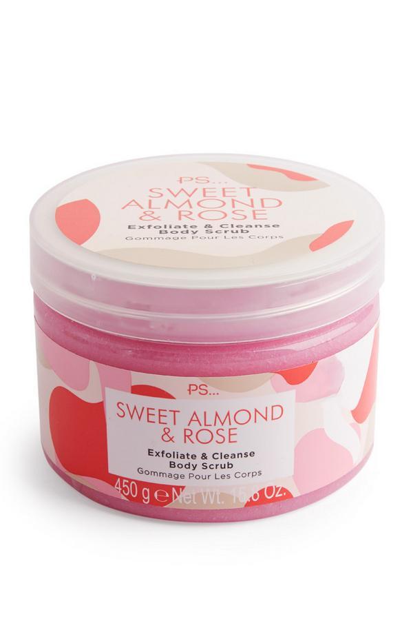 Exfoliant corporel PS parfum amande douce et rose
