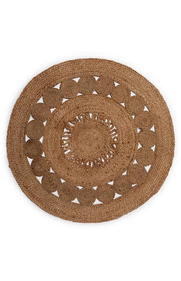 Round Jute Cut Out Rug