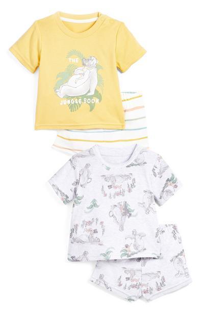 Pack de 2 pijamas con estampado del Libro de la Selva para bebé