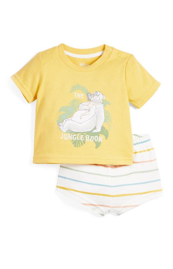 Baby Jungle Book Print Shorts Pyjamas Set
