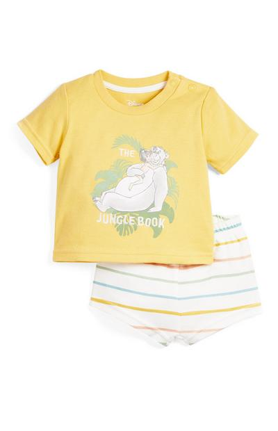 Baby Jungle Book Print Shorts Pyjamas Set