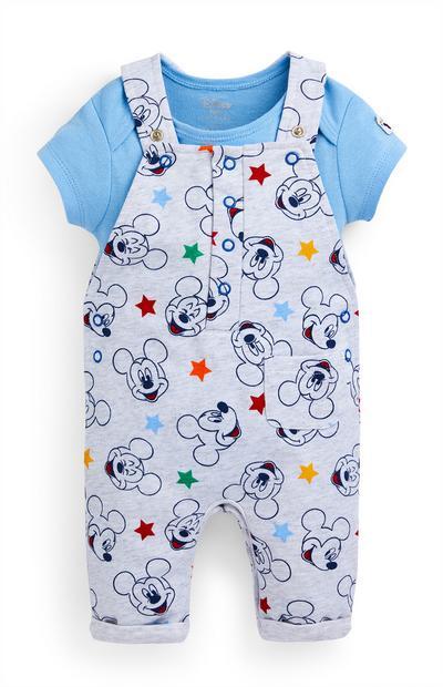 Newborn Baby Boy Mickey Mouse Overalls Set