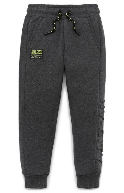 Younger Boy Grey Embossed Joggers