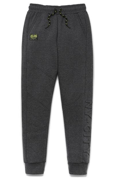 Older Boy Gray Embossed Joggers