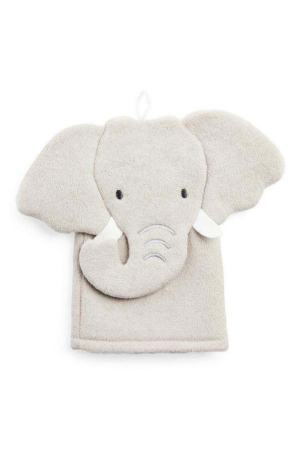 Gray 3D Elephant Mitt