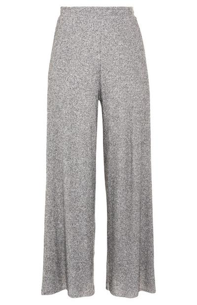 Cosy Grey Wide Leg Trousers