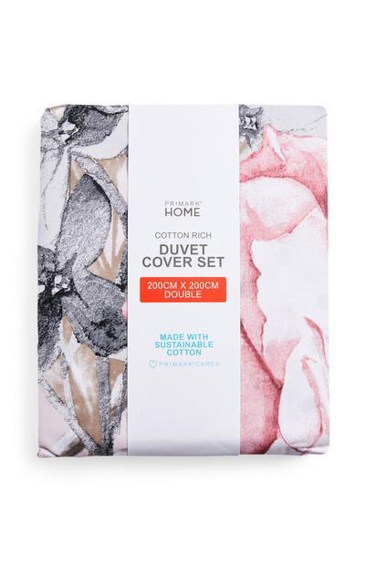 Giant Floral Double Duvet Cover Set