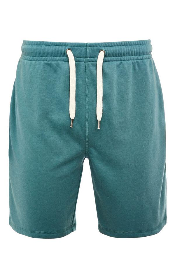 Blaugrüne Shorts mit Kordelzug