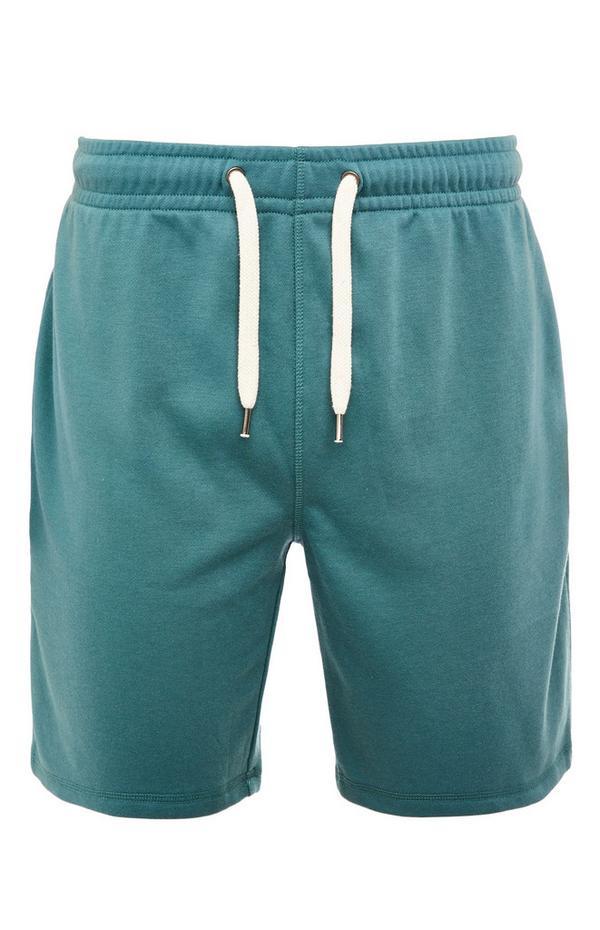 Teal Basic Tie Waist Shorts